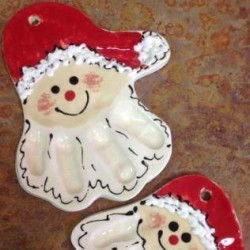 make your own holiday santa decoration